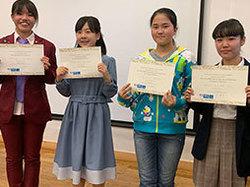 2つのフランス語コンクールにて中学生2名、高校生4名が入賞