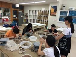 中3向け美術科企画「陶芸をしよう」