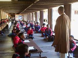 オーストラリアの姉妹校と書写登山、写経体験